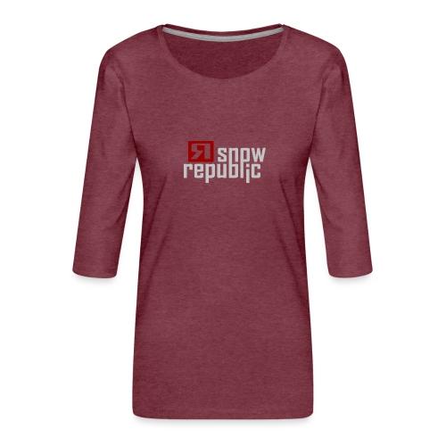 SNOWREPUBLIC 2020 - Vrouwen premium shirt 3/4-mouw