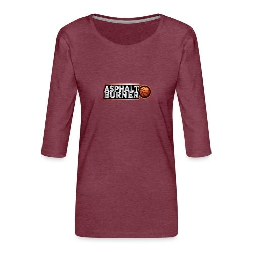 Asphalt Burner - for streetball players - Women's Premium 3/4-Sleeve T-Shirt