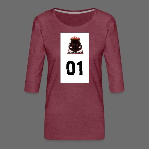 Boar blood 01 - Koszulka damska Premium z rękawem 3/4