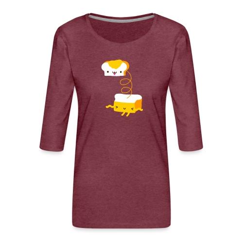 Cat sandwich gatto sandwich - Maglietta da donna premium con manica a 3/4