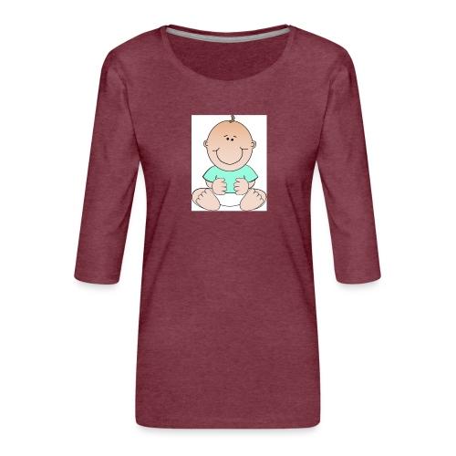 rompertje baby jongen - Vrouwen premium shirt 3/4-mouw