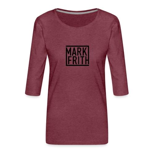 MARK FRITH Logo BLACK - Women's Premium 3/4-Sleeve T-Shirt