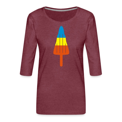 ZOOM ROCKET LOLLY: choose three different flavours - Women's Premium 3/4-Sleeve T-Shirt