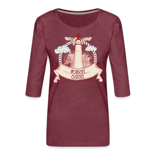 Leuchtturm Nordsee Ostsee - Frauen Premium 3/4-Arm Shirt