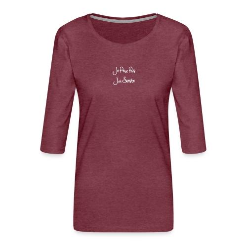 Je peux pas j'ai sieste - T-shirt Premium manches 3/4 Femme
