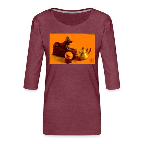 Anubi nel deserto - Maglietta da donna premium con manica a 3/4