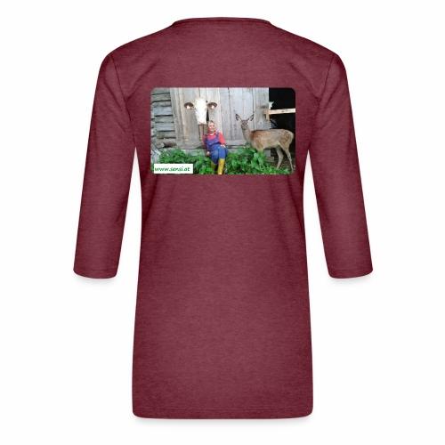 SenSi ♥ Hilfsprojekt für Kühe - Frauen Premium 3/4-Arm Shirt