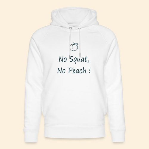 No squat, no peach in blue - Sweat à capuche bio Stanley & Stella unisexe
