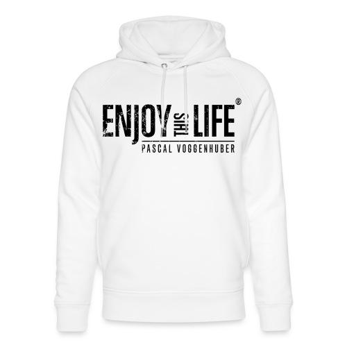 Enjoy this Life®-Classic Black Pascal Voggenhuber - Unisex Bio-Hoodie von Stanley & Stella