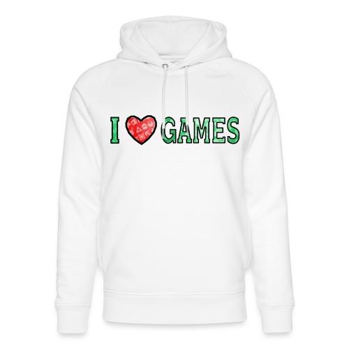 I Love Games - Ekologiczna bluza z kapturem typu unisex Stanley & Stella