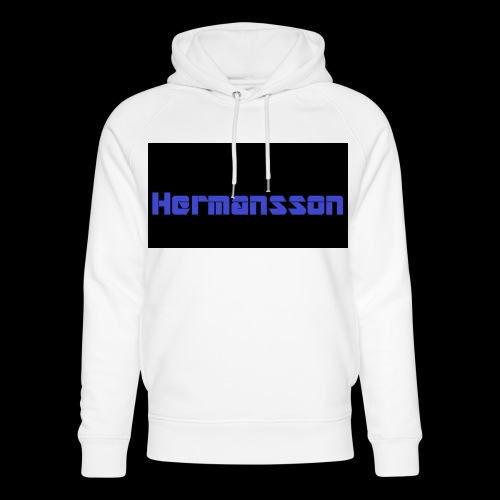 Hermansson Blå/Svart - Ekologisk luvtröja unisex från Stanley & Stella