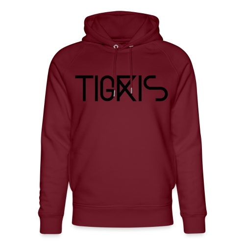 Tigris Vector Text Black - Unisex Organic Hoodie by Stanley & Stella