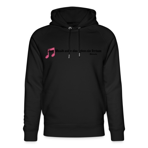 Without Music Life would be a mistake - Felpa con cappuccio ecologica unisex di Stanley & Stella