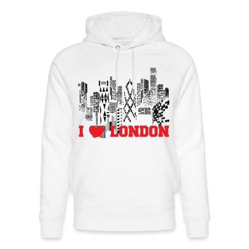 I LOVE LONDON SKYCRAPERS - Sudadera con capucha ecológica unisex de Stanley & Stella