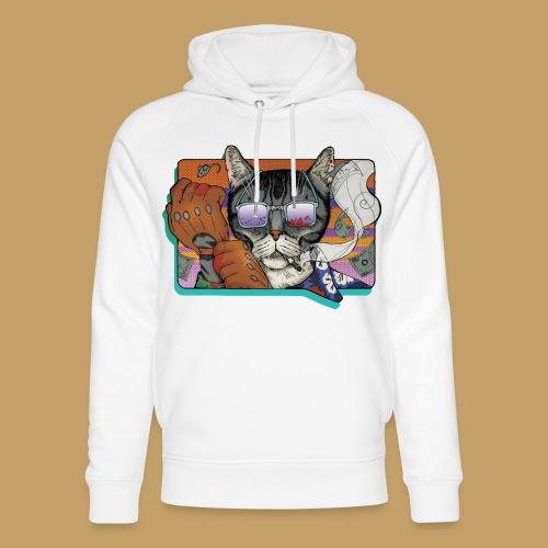 Crime Cat in Shades - Ekologiczna bluza z kapturem typu unisex Stanley & Stella