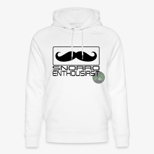 Snorro enthusiastic (black) - Unisex Organic Hoodie by Stanley & Stella