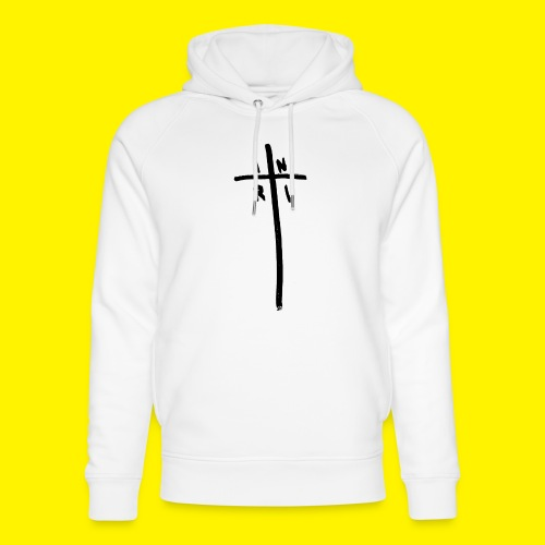 Cross - INRI (Jesus of Nazareth King of Jews) - Unisex Organic Hoodie by Stanley & Stella