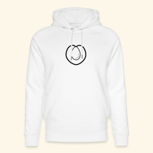 fruits and veggies icons peach 512 - Stanley & Stella unisex hoodie af økologisk bomuld