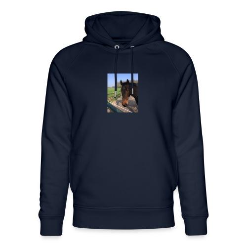 Met bruin paard bedrukt - Uniseks bio-hoodie van Stanley & Stella