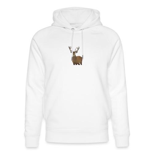 Cerf Low poly hoodie - Sweat à capuche bio Stanley & Stella unisexe