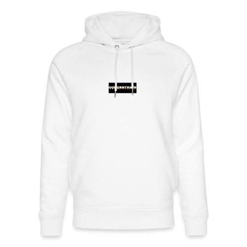 Concentrate on black - Unisex Organic Hoodie by Stanley & Stella