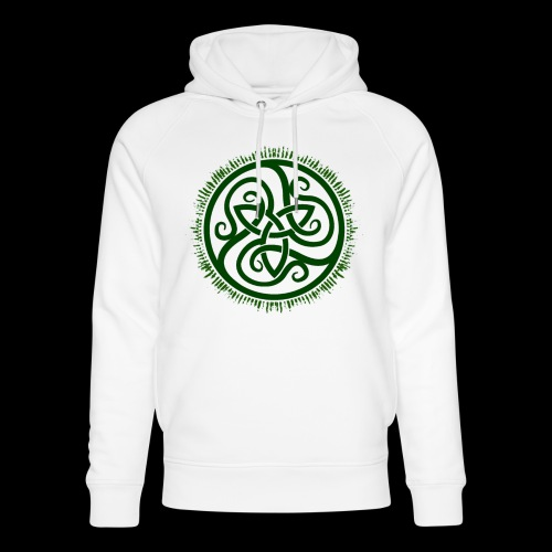 Green Celtic Triknot - Unisex Organic Hoodie by Stanley & Stella