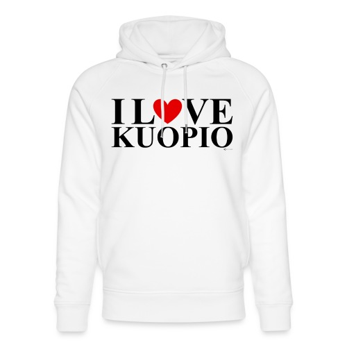 I LOVE KUOPIO (koko teksti, musta) - Stanley & Stellan unisex-luomuhuppari
