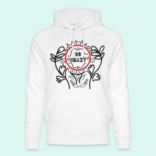 Go Crazy Flower - Uniseks bio-hoodie van Stanley & Stella
