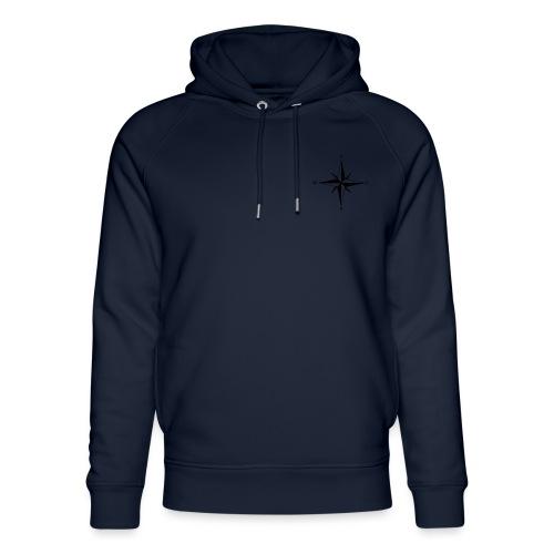 Kompas sort - Stanley & Stella unisex hoodie af økologisk bomuld