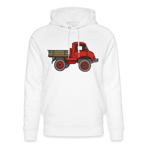 Roter Lastwagen, LKW, Laster - Unisex Bio-Hoodie von Stanley & Stella