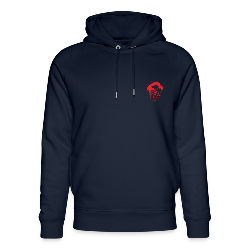 Sea of red logo - small red - Unisex Organic Hoodie by Stanley & Stella