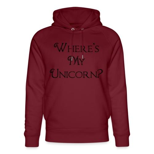 Where's My Unicorn - Unisex Organic Hoodie by Stanley & Stella