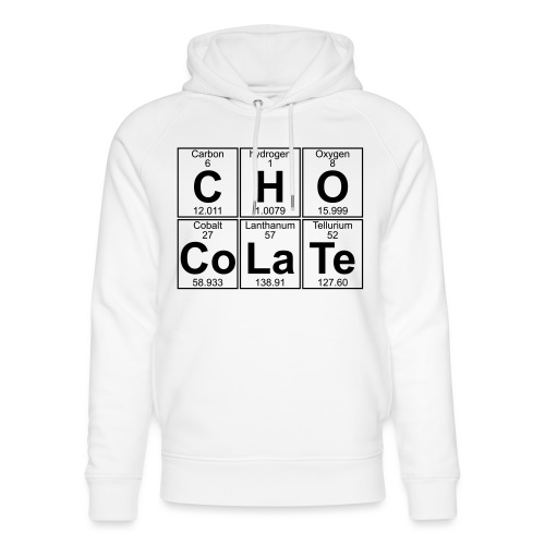 C-H-O-Co-La-Te (chocolate) - Full - Unisex Organic Hoodie by Stanley & Stella