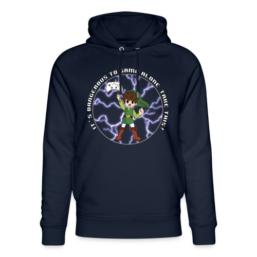 Dangerous To Game Alone - Unisex Organic Hoodie by Stanley & Stella