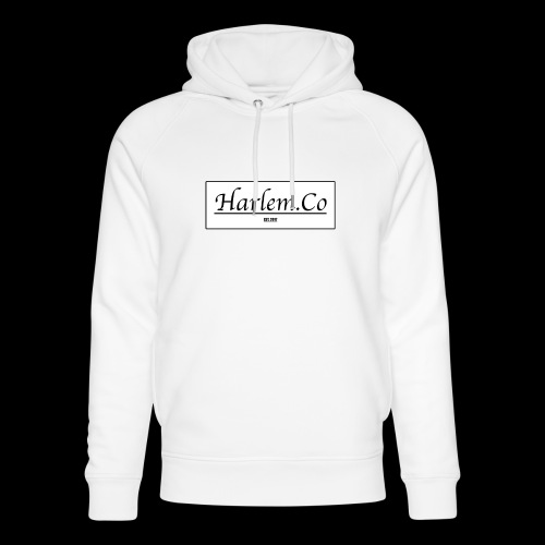 Harlem Co logo White and Black - Unisex Organic Hoodie by Stanley & Stella