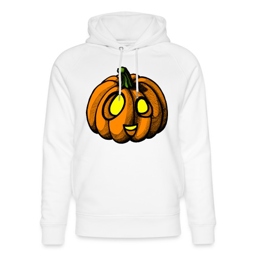 Pumpkin Halloween scribblesirii - Unisex Organic Hoodie by Stanley & Stella