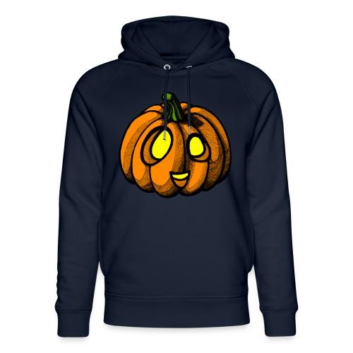 Pumpkin Halloween scribblesirii - Stanley & Stella unisex hoodie af økologisk bomuld