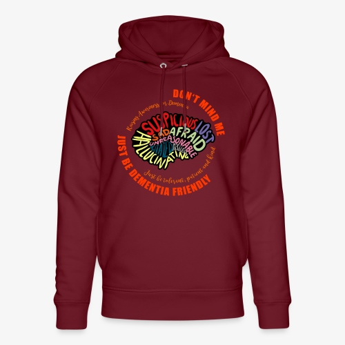 Just Be Dementia Friendly - Unisex Organic Hoodie by Stanley & Stella