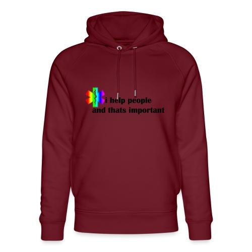 i help people - Uniseks bio-hoodie van Stanley & Stella