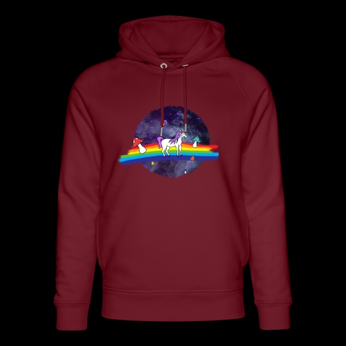 Mushroom Unicorn in Space Hoodie - Unisex Organic Hoodie by Stanley & Stella