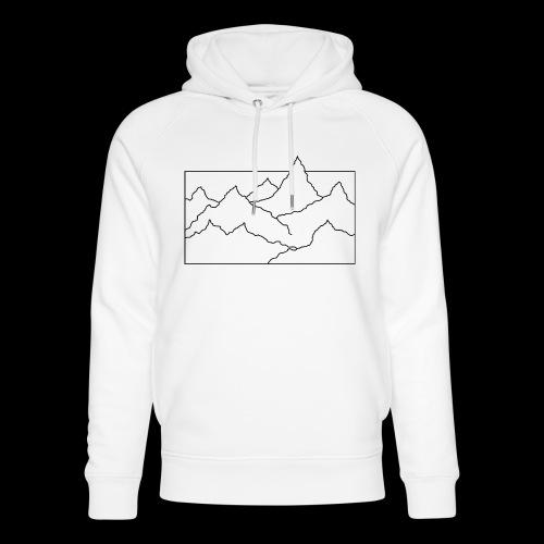Kontur Gebirge schwarz - Unisex Bio-Hoodie von Stanley & Stella