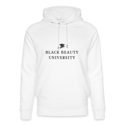 BLACK BEAUTY UNIVERSITY LOGO BLACK - Sweat à capuche bio Stanley & Stella unisexe