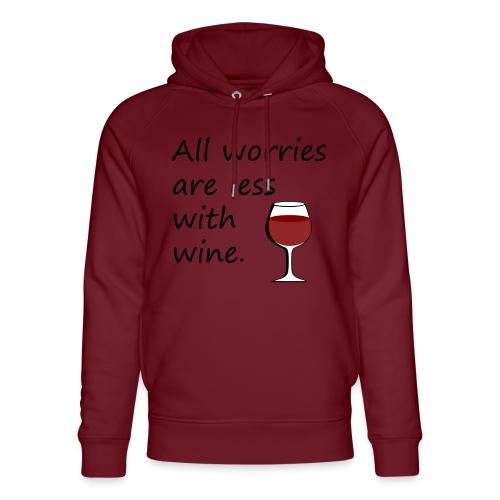 Wein Problemlöser / Wein-Fans / Geschenkidee - Unisex Organic Hoodie by Stanley & Stella