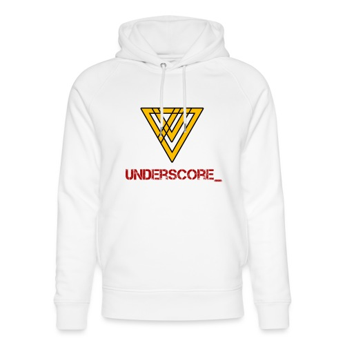 Underscore Yellow Red - Unisex Organic Hoodie by Stanley & Stella
