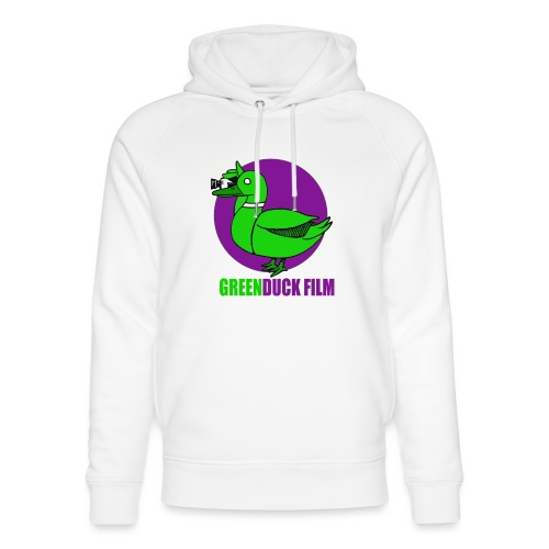 Greenduck Film Purple Sun Logo - Stanley & Stella unisex hoodie af økologisk bomuld