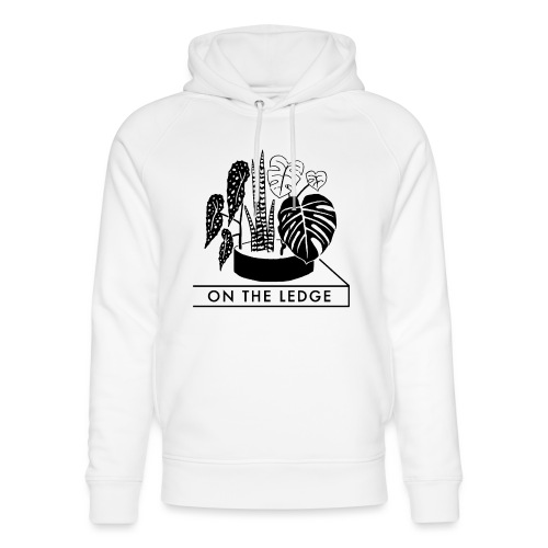 On The Ledge black and white logo - Unisex Organic Hoodie by Stanley & Stella