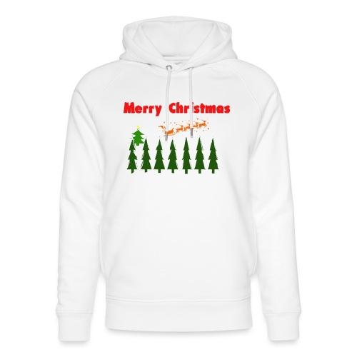 Merry christmass - Felpa con cappuccio ecologica unisex di Stanley & Stella