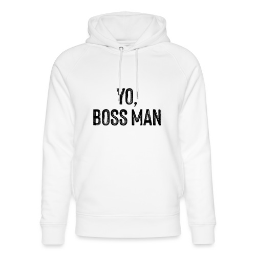 Yo BossMan - LDN Roads Collection - BLK - Unisex Organic Hoodie by Stanley & Stella