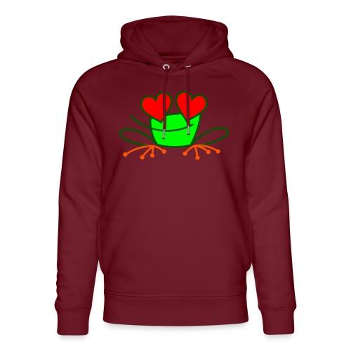 Frog in Love - Unisex Organic Hoodie by Stanley & Stella