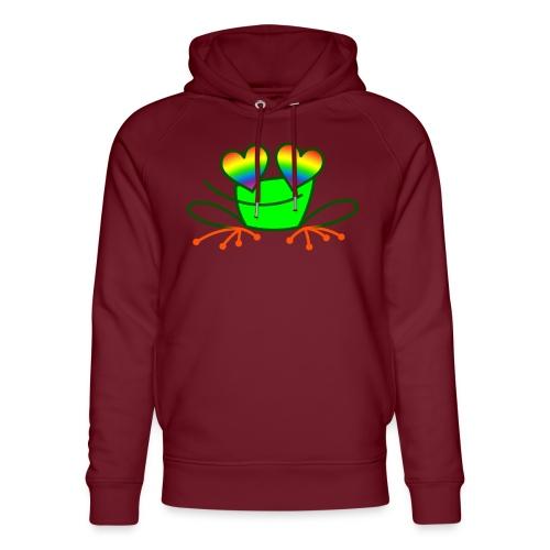 Pride Frog in Love - Unisex Organic Hoodie by Stanley & Stella